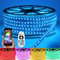 AC 110V 220V High Voltage RGB LED Tape Lights Waterproof IP67 32.8Ft 10M