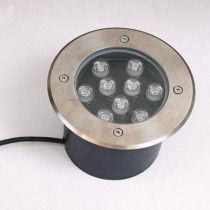 Waterproof 9W LED Underground Light Garden Inground Buried Landscape Lamp