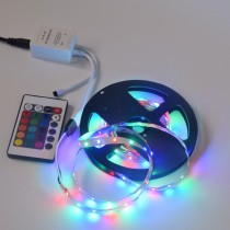 1 Set SMD RGB 3528 60leds/m Flexible LED Strip Light With Remote Controller