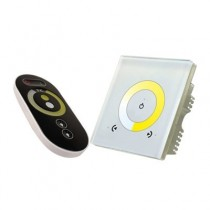 DC 12V 24V 2.4GHz Wall Install Series Glass Panel Color Temperature RF Dimmer