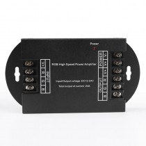DC 12V 24V 8A 3CH PWM LED RGB High Speed Power Data Signal Amplifier
