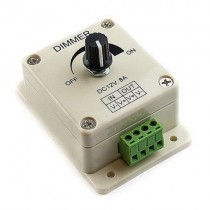 2Pcs DC 12 24V PWM LED Dimmer with Manual Potentiometer Controller