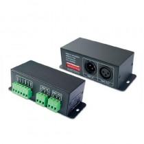 DC 5V 12V 24V 256 Gradations DMX512 Controller SPI Signal Decoder