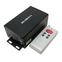 DC 5V 12V Wireless SD Card DMX Signal Transmitter With Remote Control