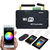 DC 5V 12V WF300 2.4G WIFI RF Wireless Controller Control Via Smart Phone Tablet PC