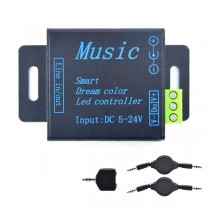 DC 5V 12V 24V Music Controller Signal Amplifier For WS2811 WS2812B Lights