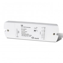 DC 5-36V 5CH 4A Constant Voltage RF 2.4G Wireless Remoters V5 For Led Strip Light