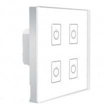 EDA4 LTECH 4CH Control DALI Touch Panel LED Controller Switch Wall Mounted Dimmer