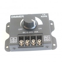 12v 24v 30A 720W LED Dimmer Brightness Adjustable Controller