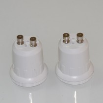 10Pcs GU10 to E10 Lamp Base Socket White Flame Resistance PC