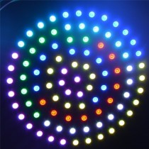 WS2812B 241 Leds Ring 5050 RGB LED Ring Lamp Light with Integrated Driver Black PCB DC 5V